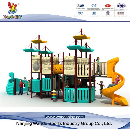 Ourtdoor Pirate Ship Playset di plastica per i bambini