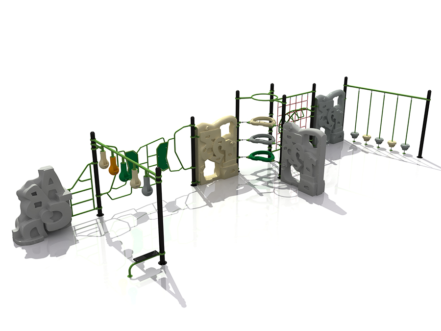 Outdoor Kids Playground Rock Climbing Rope Playset per Adventure Park
